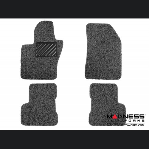 FIAT 500X Floor Mats - All Weather Rubber - Coiled PVC - Black/ Grey