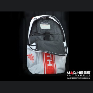ABARTH Racing Team Backpack - White w/ Red Graphics
