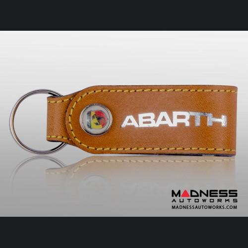 ABARTH Keychain - Leather Band - Brown