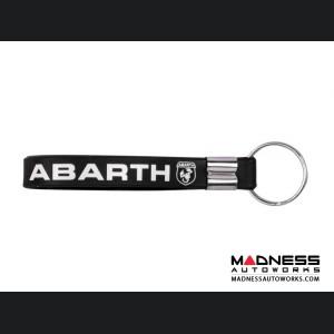 Keychain - Silicone Loop - ABARTH Logo - Black