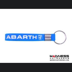 Keychain - Silicone Loop - ABARTH Logo - Blue