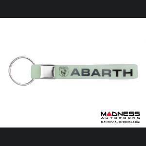 Keychain - Silicone Loop - ABARTH Logo - Glow Green