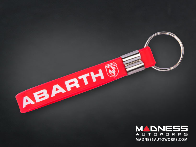Keychain - Silicone Loop - ABARTH Logo - Red