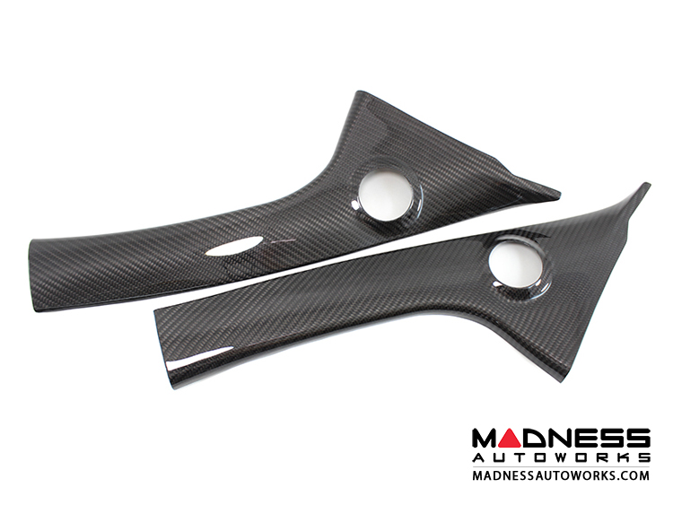 FIAT 500 Internal Pillar Trim Cover Set - Carbon Fiber