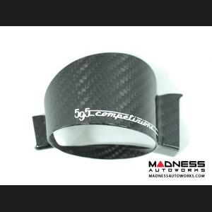 FIAT 500 ABARTH Boost Gauge Cover w/ 595 Logo - Carbon Fiber