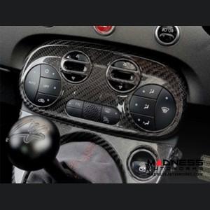 FIAT 500 Climate Control Display Frame - Carbon Fiber