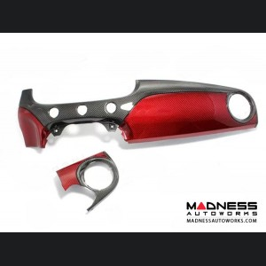 FIAT 500 Custom Dashboard - Carbon Fiber - Red Candy Combo