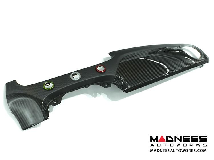 FIAT 500 Custom Dashboard - Carbon Fiber - Matt/ Clear