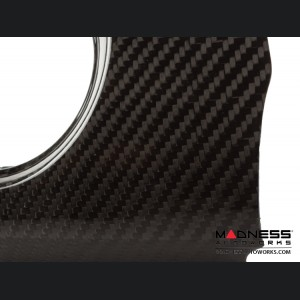 FIAT 500 Custom Dashboard - Carbon Fiber - Italian Racing Stripe w/ White Scorpion