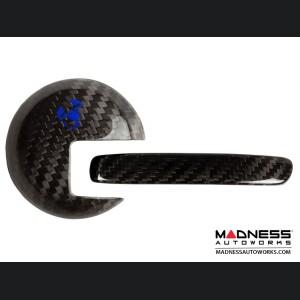 FIAT 500 Interior Door Handle Kit in Carbon Fiber - Blue Scorpion