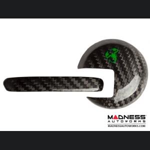 FIAT 500 Interior Door Handle Kit in Carbon Fiber - Green Scorpion