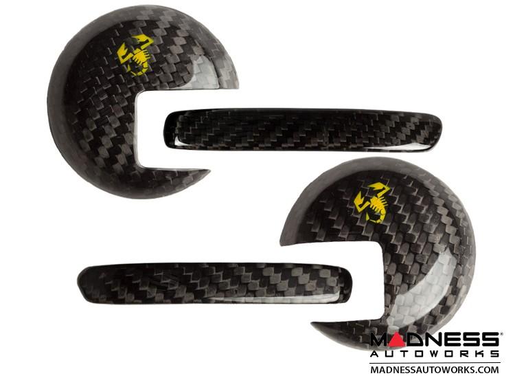 FIAT 500 Interior Door Handle Kit in Carbon Fiber - Yellow Scorpion
