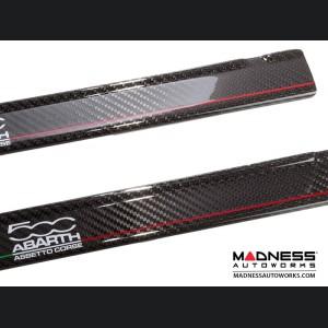 FIAT 500 Door Sills - Carbon Fiber - 500 ABARTH Assetto Corse Graphic