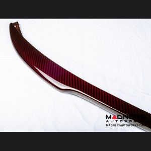FIAT 500 Front Spoiler - Carbon Fiber - Red Candy