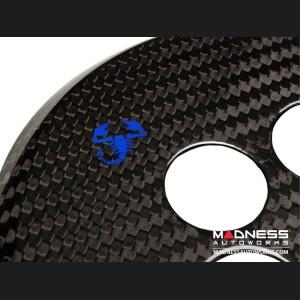 FIAT 500 Gear Panel in Carbon Fiber - Blue Scorpion