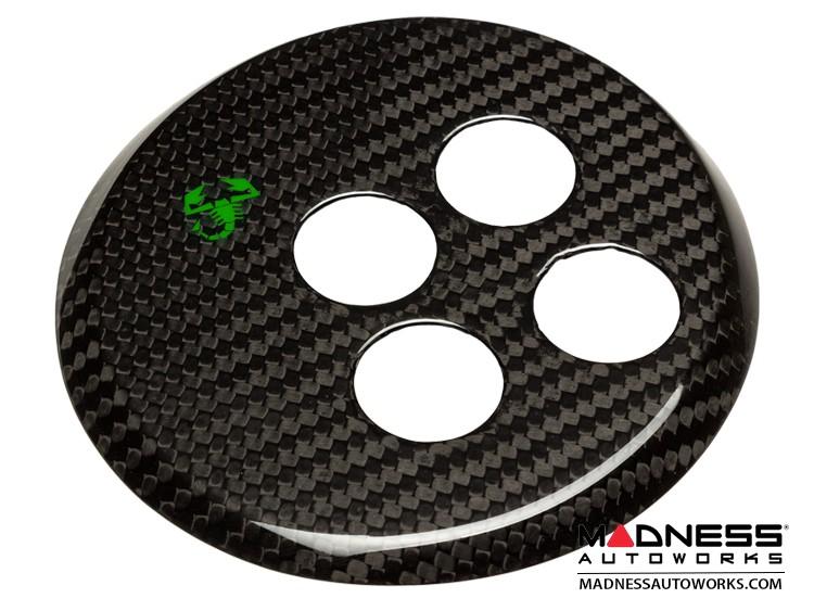 FIAT 500 Gear Panel in Carbon Fiber - Green Scorpion