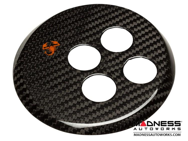 FIAT 500 Gear Panel in Carbon Fiber - Orange Scorpion