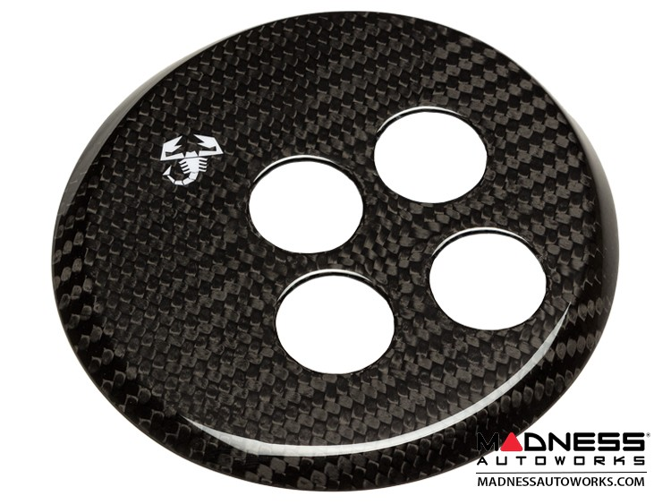 FIAT 500 Gear Panel in Carbon Fiber - White Scorpion