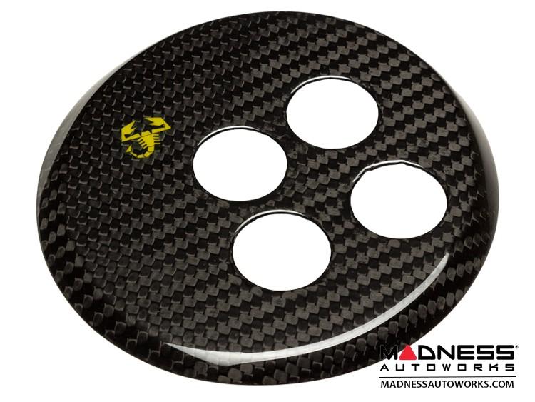 FIAT 500 Gear Panel in Carbon Fiber - Yellow Scorpion