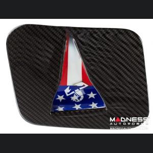 FIAT 500 Hood Scoop - ABARTH NACA Air Intake - Carbon Fiber - American Flag w/ White Scorpion