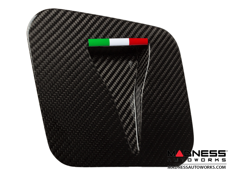 FIAT 500 Hood Scoop - ABARTH NACA Air Intake in Carbon Fiber - Italian Racing Stripe Design