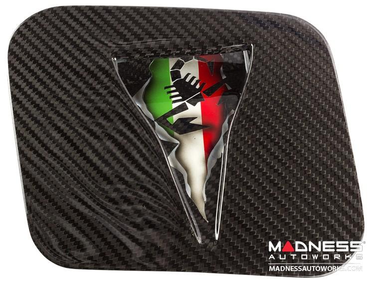 FIAT 500 Hood Scoop - ABARTH NACA Air Intake - Carbon Fiber - Italian Flag w/ Black Scorpion