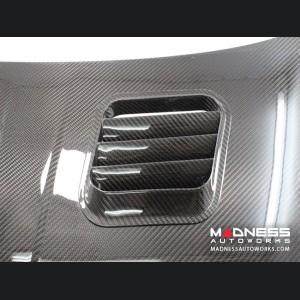 FIAT 500 Hood - Carbon Fiber - w/ Vents