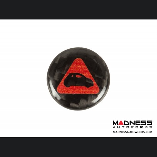 FIAT 500 Key Fob Tag in Carbon Fiber - MADNESS Logo