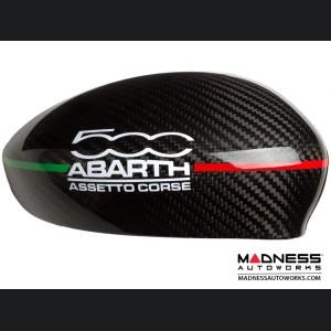 FIAT 500 Mirror Covers - Carbon Fiber - 500 ABARTH Assetto Corse