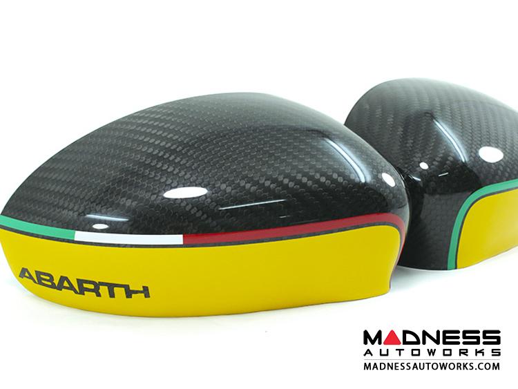 Fiat 500 Abarth Mirror Covers Carbon Fiber Abarth