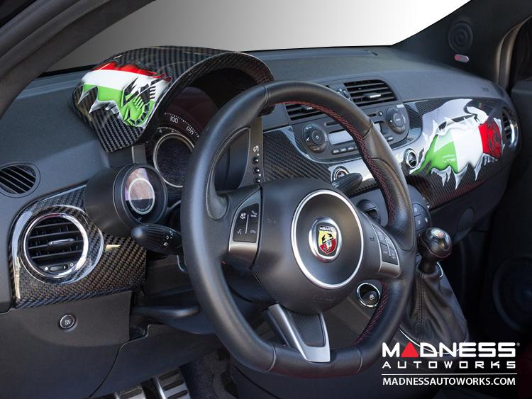 Fiat 500 abarth interior carbon fiber package italian for Interior 500 abarth