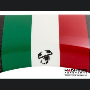 FIAT 500 Parcel Shelf - Carbon Fiber - Italian Racing Stripe w/ Black Scorpion