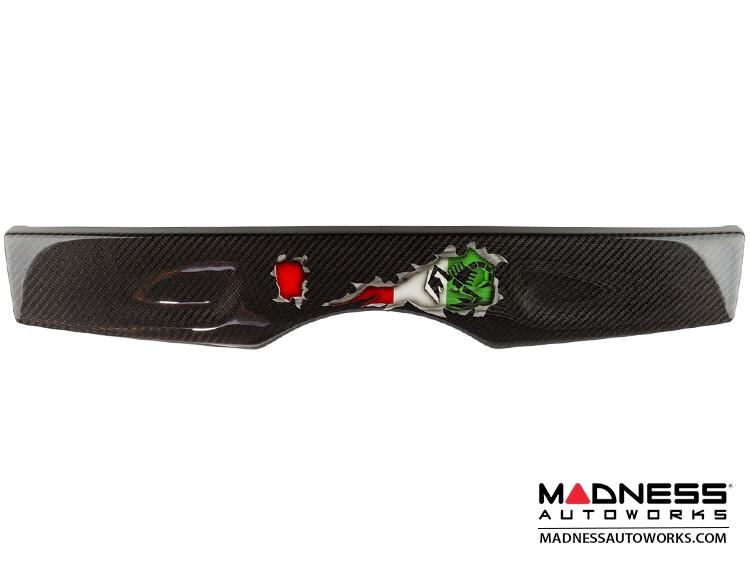 FIAT 500 Parcel Shelf - Carbon Fiber - Italian Flag w/ Black Scorpion