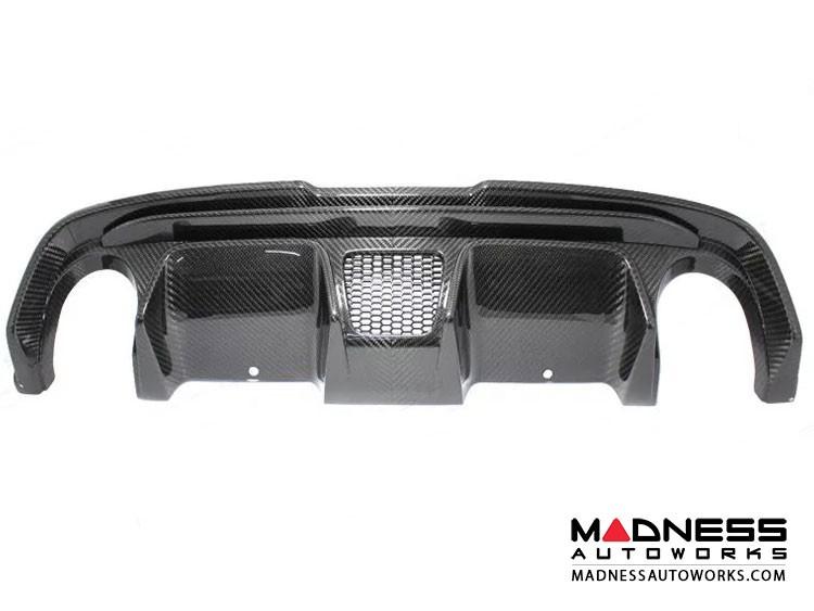 FIAT 500 Rear Diffuser - Carbon Fiber -Dual Exit - 595 Style - EU Model
