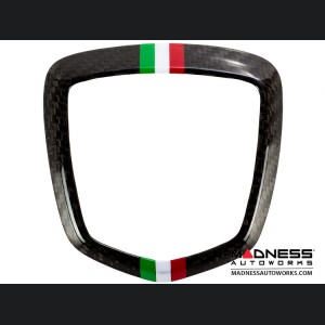 FIAT 500 ABARTH Rear Emblem Trim (1 piece) - Carbon Fiber - Italian Racing Stripe