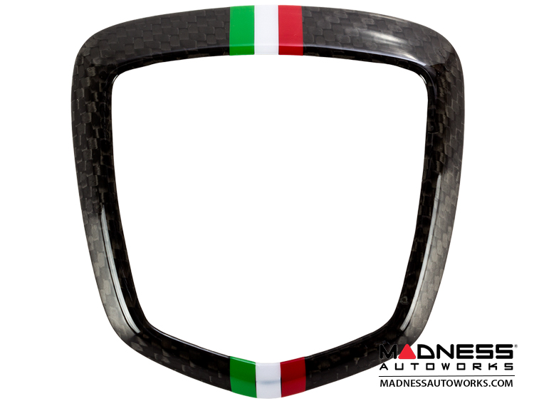 fiat 500 abarth rear emblem trim 1 piece carbon fiber italian racing stripe fiat 500. Black Bedroom Furniture Sets. Home Design Ideas