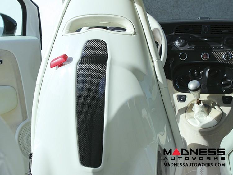FIAT 500 Sabelt Seat Trim Covers - Carbon Fiber - EU Models w/ Sabelt Seats Only