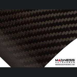 FIAT 500 Roof Spoiler - Carbon Fiber - Italian Racing Stripe w/ Black Scorpion