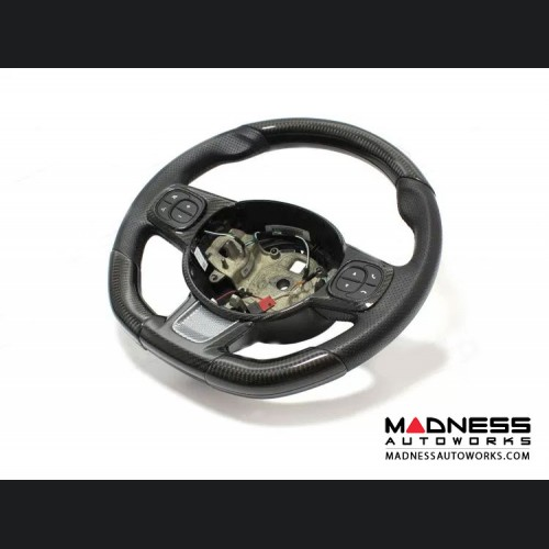 FIAT 500 ABARTH Steering Wheel Sides Cover - Carbon Fiber - 595 Edition
