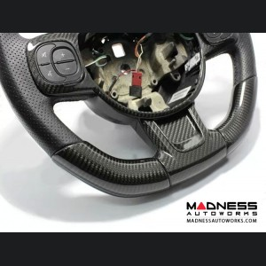 FIAT 500 ABARTH Steering Wheel Sides Cover - Carbon Fiber - 595 Edition - White
