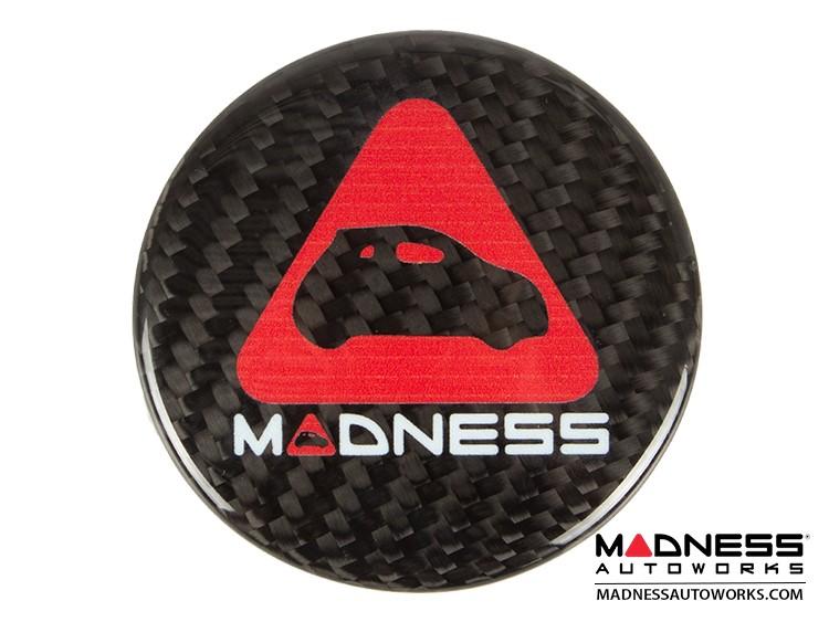 FIAT 500 Steering Wheel Center Cap Trim - Carbon Fiber - MADNESS