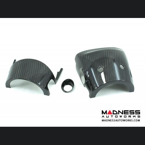 FIAT 500 Steering Wheel Shroud - Carbon Fiber