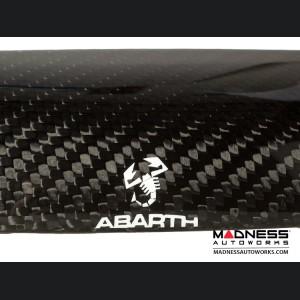 FIAT 500 Trunk Handle - Carbon Fiber - White Scorpion w/ ABARTH - EU Model