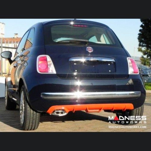 FIAT 500 Diffuser - Add On - FRP - Single Exit