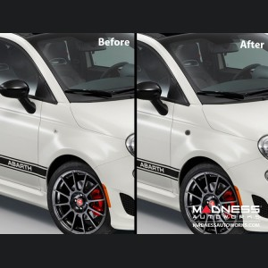 FIAT 500 Front Side Blinker Lights (2) - Crystal Black Finish
