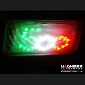 FIAT 500 Dome Light Custom LED Panel - European Version - Tri Color