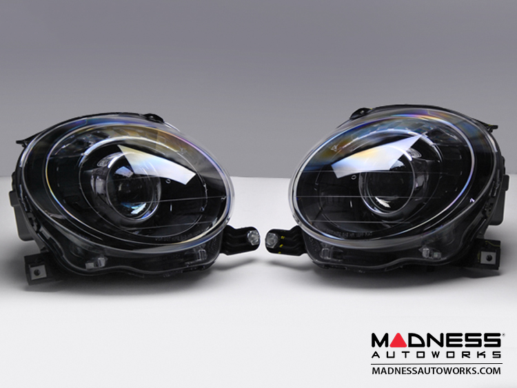 Fiat 500 Headlight Set Blacked Out Look Pair Fiat