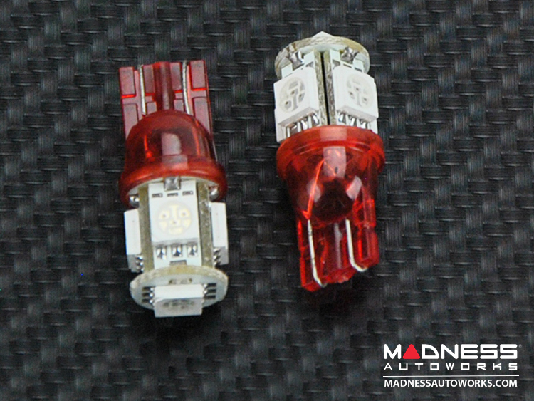 FIAT 500L Interior Bulb Set - 2 SMD Bulbs - Red