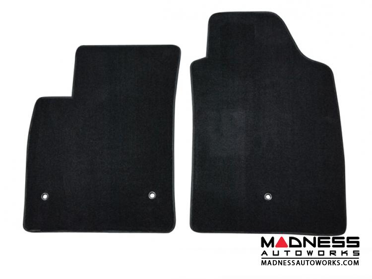 FIAT 500 Floor Mats - Thick Plush Carpet - Lloyd - Front Set - Black