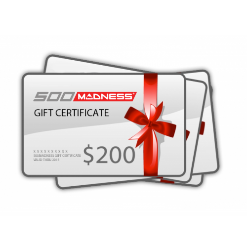 500 MADNESS Gift Certificate